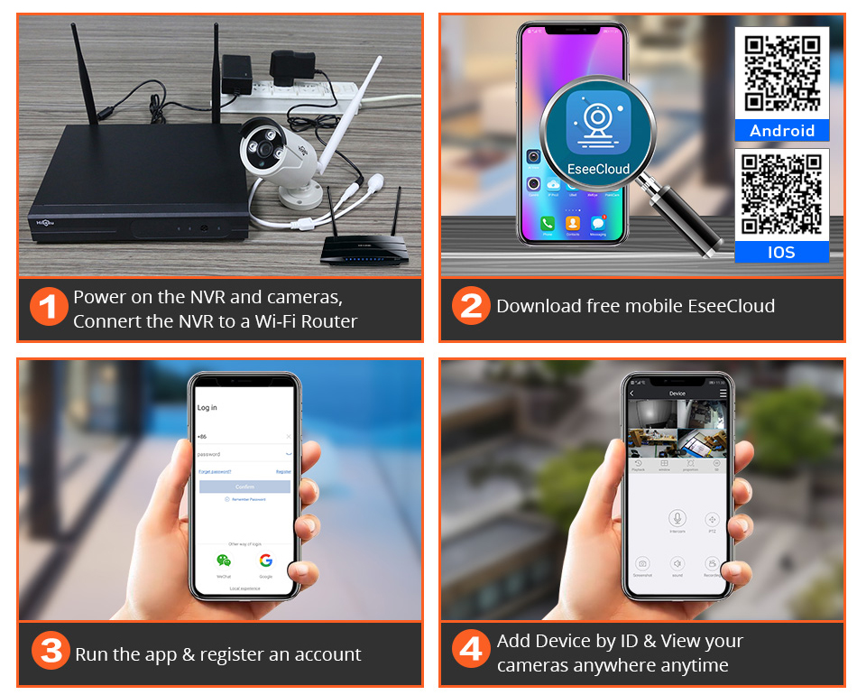 Hiseeu 8CH Wireless CCTV Security System 22