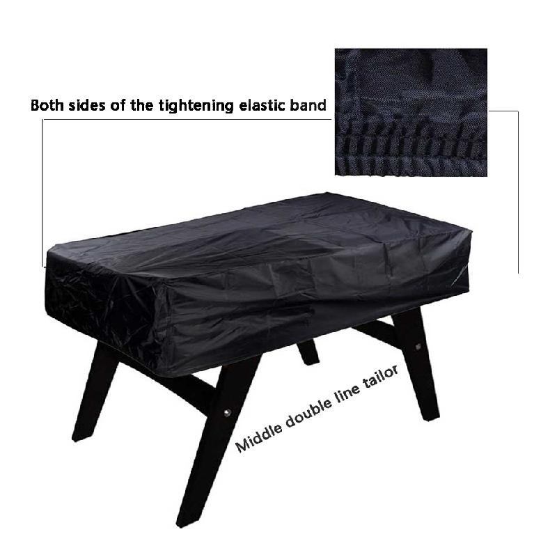Scratch Resistant Dust Proof Rectangular Stretching Protective Coffee Soccer Patio Chair Outdoor Waterproof Foosball Table Cover Herbal Products