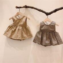 Milancel verão crianças vestidos sem mangas meninas vestido de baile vestido para meninas pronto estoques