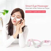 Elektrikli göz masajı titreşim göz masaj aleti gözler yorgunluk giderici kablosuz gevşeme sıcak sıcak kompres USB şarj edilebilir 45