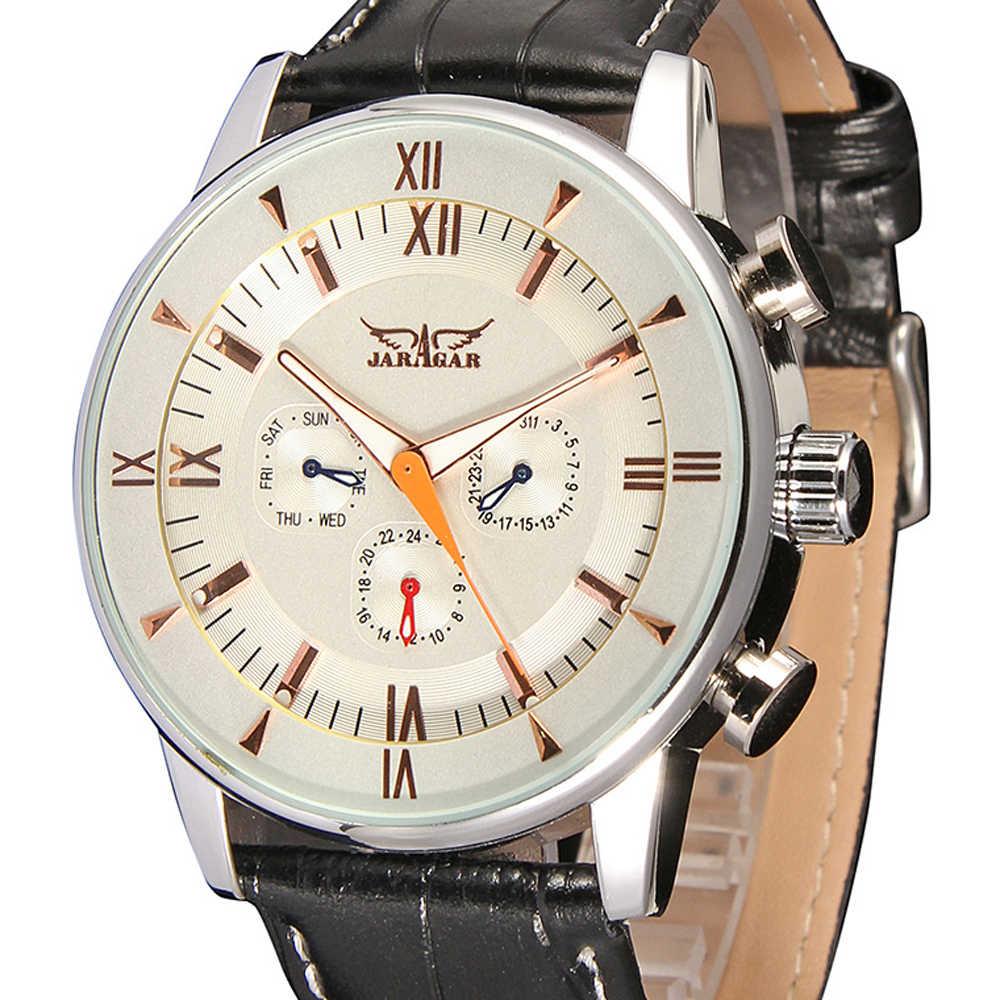 レロジオ Masculino JARAGAR 男性高級腕時計有名なブランド自己風自動腕時計ヴィンテージ高級品質のギフト