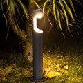 Thrisdar 40CM 60CM Outdoor Garten Post Rasen Licht 7W Säule Lampe Wasserdicht Villa Zaun Hof Landschaft Rasen poller Licht-in LED-Gartenlampen aus Licht & Beleuchtung bei