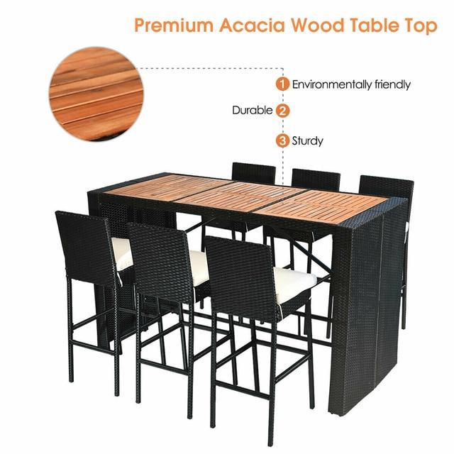 7 PCS Outdoor Dining Furniture Set 5