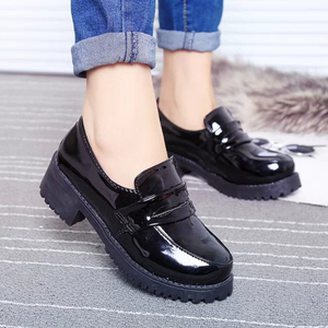 Image 2 - Japanese Student Shoes College Girl Shoes JK Commuter Uniform Shoes PU Leather Cospaly Shoes