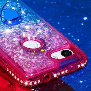 Image 4 - Сыпучий песок украшение телефонные чехлы для Google Pixel 3a чехол для 3a XL Крышка TPU жидкий алмаз Giltter кронштейн палец кольцо Funda Coque