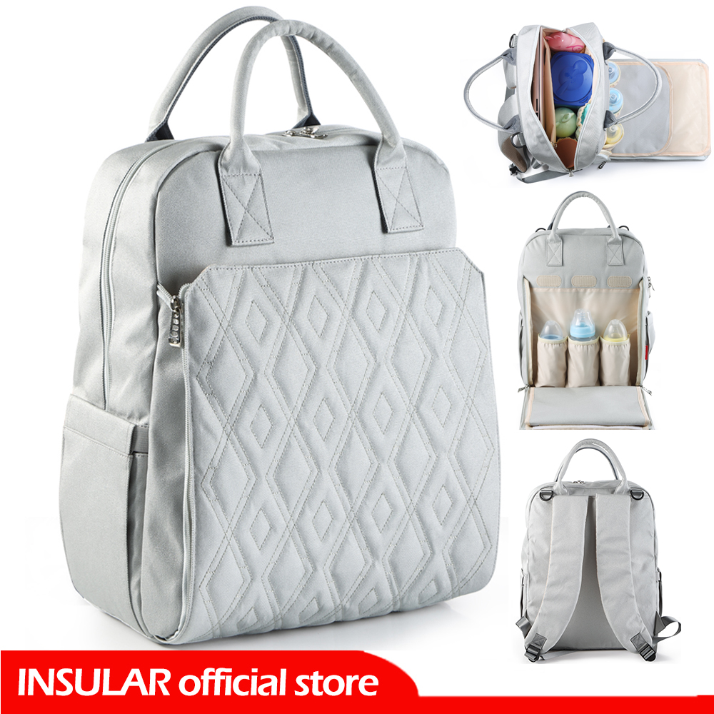 New Design Diaper Backpack Fashion Mummy Maternity Nappy Bag For Stroller Travel With Stroller Straps/Changing Pads/Wet Bag