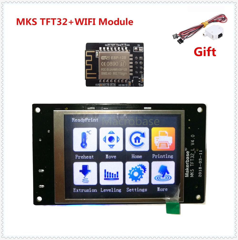MKS TFT32 V4.0 Touch Screen + MKS WIFI Module Splash Lcds Smart Controller TFT 32 Touching TFT3.2 Display 3d Printer TFT Monitor
