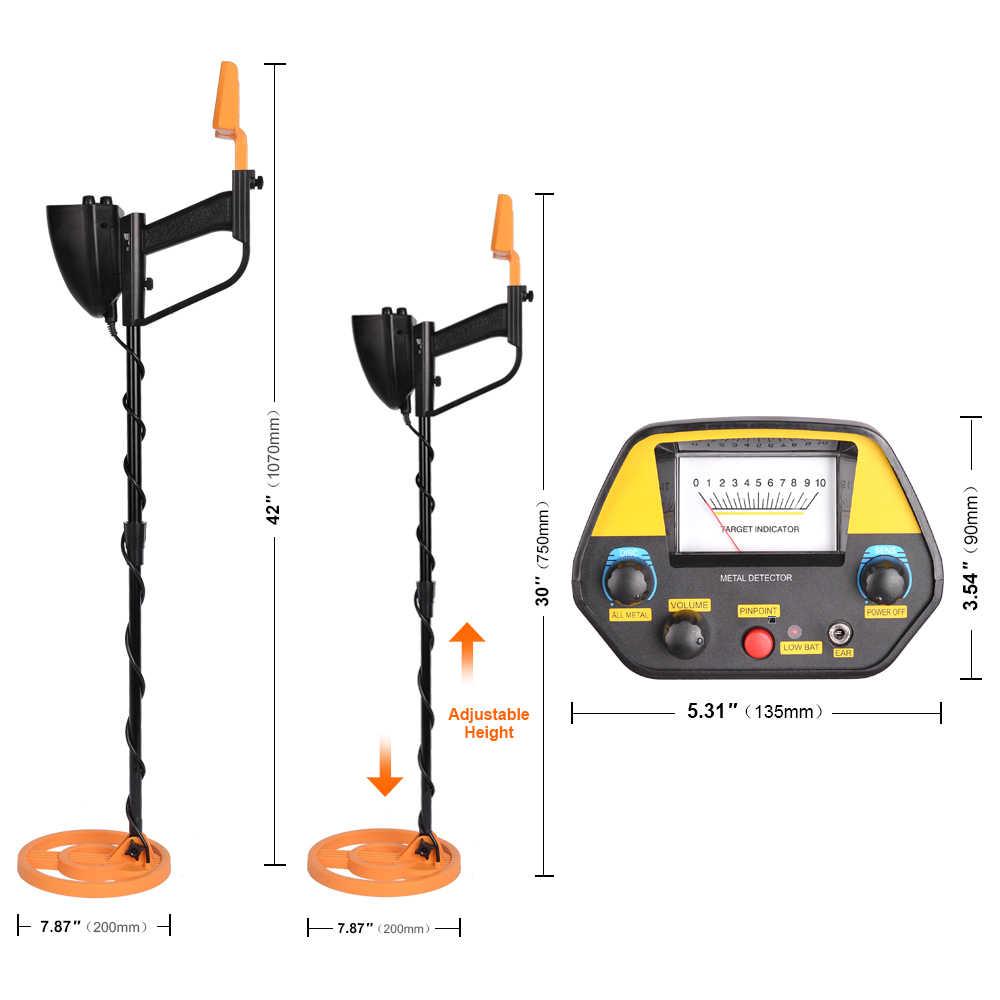 MD-4080 Detektor Logam Bawah Tanah Emas Detektor Logam Panjang Disesuaikan Pemburu Harta Karun Pencari Portable Hunter Detector