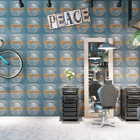 Retro Industrial Waterproof Iron Wallpaper Restaurant Hotel Bar Barber Shop Vintage Living Room Background Wrench Wallpaper 3d