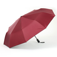 Umbrella Strong Safety Unbreakable Quality Umbrella Leather Men Automatic Windproof Portable Storm Windproof 5RR022