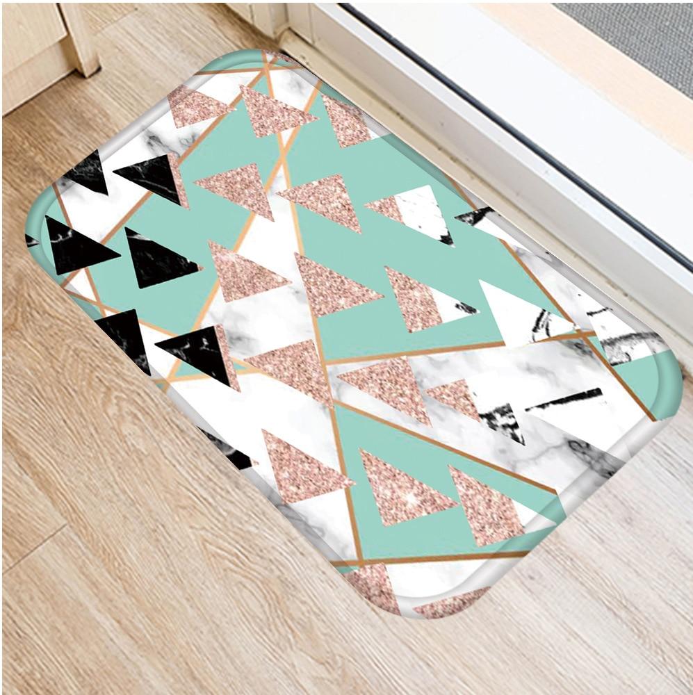 Image 3 - 40 * 60cm Geometric Marble Floor Mat Non slip Suede Carpet Door  Mat Kitchen Living Room Floor Mat Bedroom Decorative Floor Mat .Rug