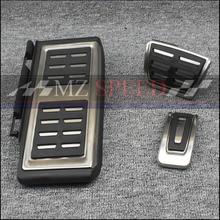 Нержавеющая сталь автоматическая коробка передач на педали автомобиля(подножка+ газ+ педаль тормоза) для LHD VW Golf MK7 7 VII