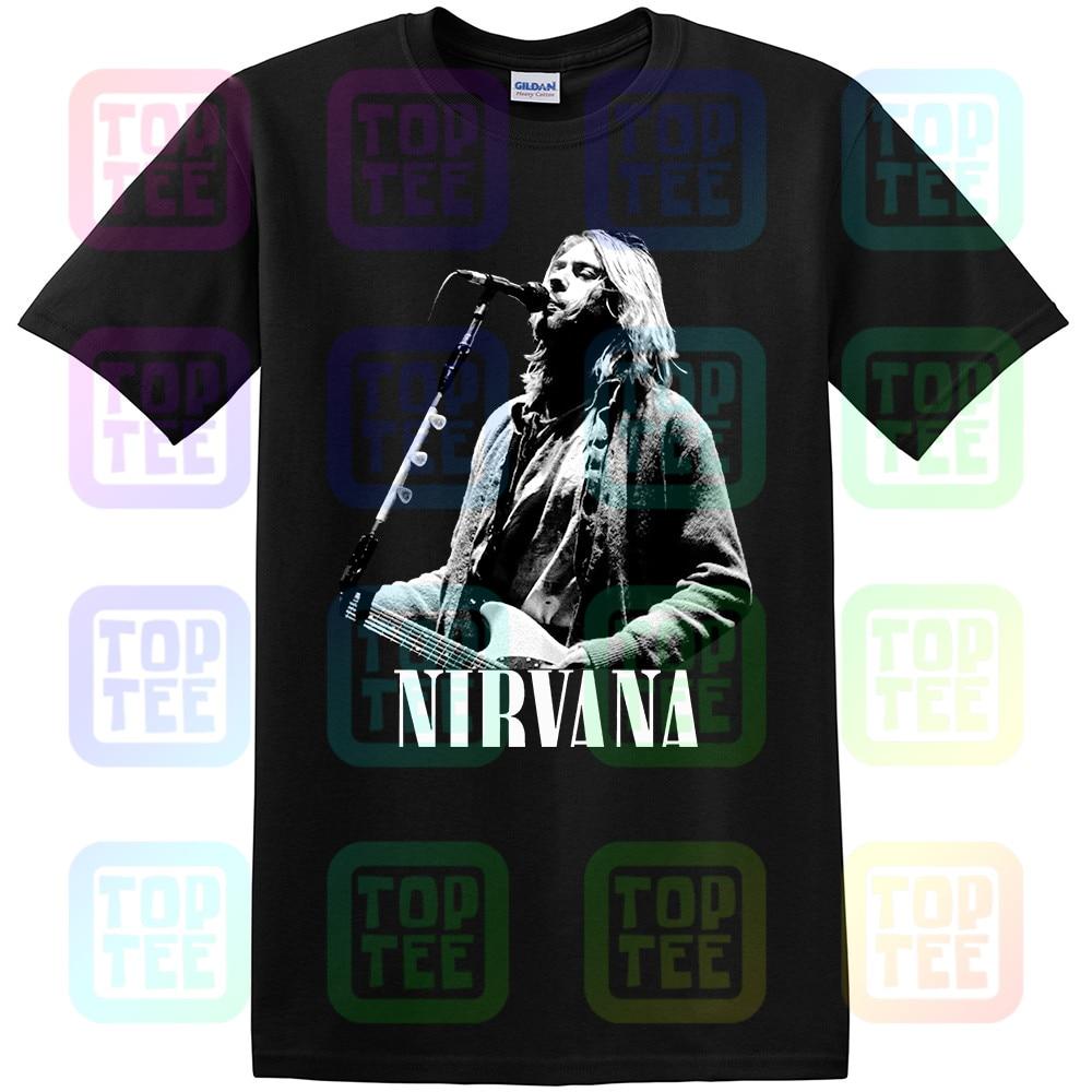 Nirvana T Shirt American Rock Band Men Black T-Shirt Size S-3XL