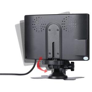 Image 2 - YuanTing 7 بوصة HD 800 × 480 TFT LCD مراقب الألوان شاشة سيارة للرؤية الخلفية النسخ الاحتياطي عكس كاميرا تلفزيونات الدوائر المغلقة مع موقف و 2 AV المدخلات