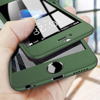 Перейти на Алиэкспресс и купить 360 Полное покрытие чехол для iPhone SE 2020 11 Pro Max защитный чехол для iPhone 11 XS Max XR X 8 7 6S 6 Plus 5 5S чехол со стеклом