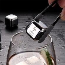цена на Stainless steel fidget ice cubes Frozen wine quick-frozen tartar ice granulator wine beer ice wine cooler chiller whiskey stones