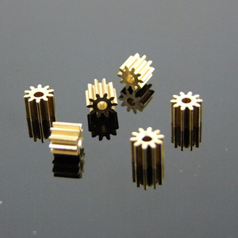 10pcs 102A Metal Gears 0.4M 10 Teeth Hole 2mm Small Module Gear Copper Pinion For RC Model Helicopter DIY Parts