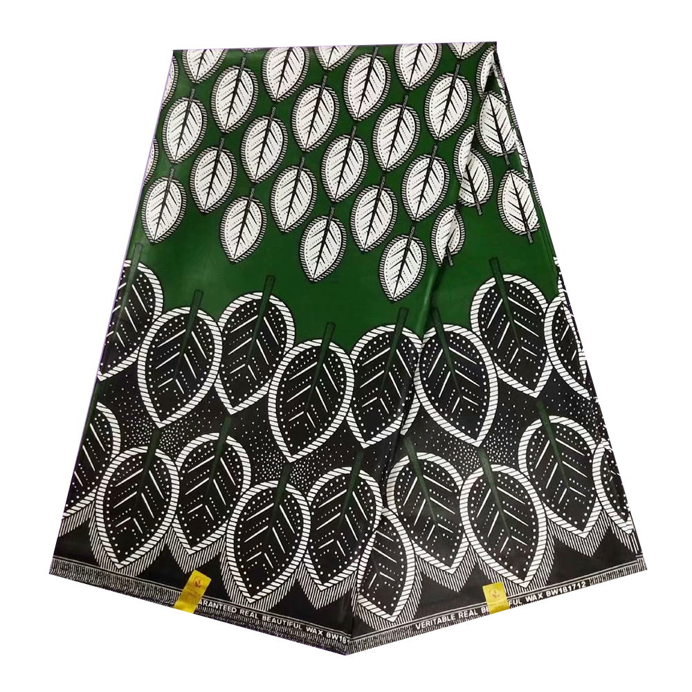 Green JAVA Wax Materials For Men's Cloth, African Wax Print Fabric For Dress Party Ghana Tissu Pagne Wax Fabrics Real Cotton