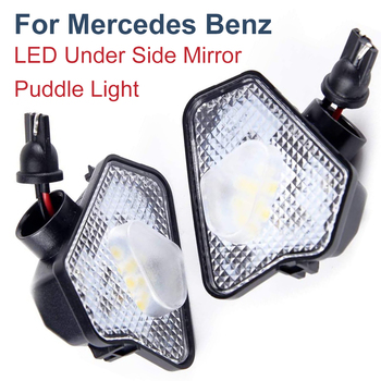 LED Mirror Puddle Light For Mercedes Benz W117 W176 W204 W209 W212 W221 W242 W246 C207 C218 C219 X156 X204 X253 A B C E S Class
