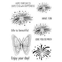 Scrapbook DIY photo cards account rubber stamp clear stamp transparent stamp Handmade card stamp HAVE FUN LOVE YOU SO MUCH ENJOY so much in love
