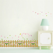 Sweet Family Garden Fence Flower Butterfly wall Stickers Home Decor DIY Wall decor Decoration kids children room