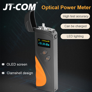 NEW High Precision Mini Rechargeable Fiber Cable Tester Optical Power Meter -50 to 20dBm/-70 to 3dBm Clamshell FTTH Tool joinwit jw3208a portable 70 3dbm fiber optic power meter used in telecommunications free shipping