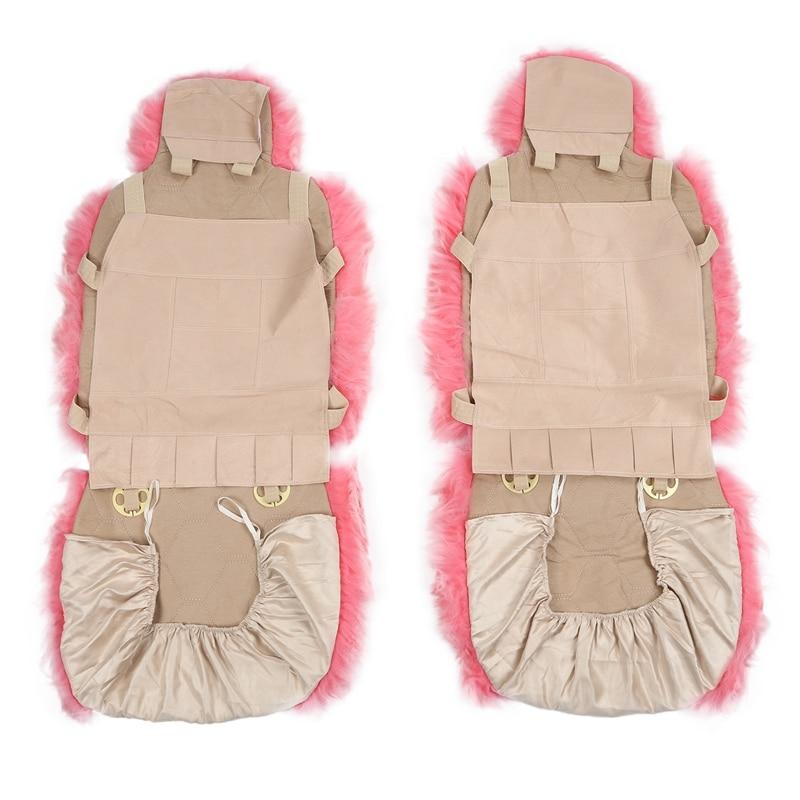 Lã capa de assento do carro inverno quente automóveis almofada de pele natural australiana pele carneiro assentos de automóvel capa carros acessórios de pele - 4