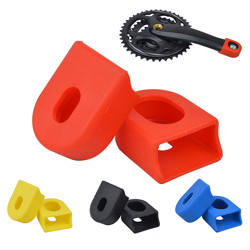 2 PCS Bicycle Crankset Crank Protective Sleeve Cover Protector MTB Mountain Bike Crank Boot Protectors Fixed Gear Accessories