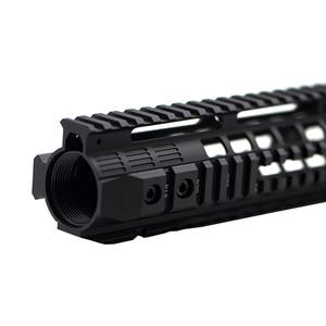 "Image 2 - CNC Aluminum Rail System 4""7""10""12"" Keymod M LOK Handguard For Tactical AEG Airsoft Air Guns Gel Blaster Paintball Accessories"