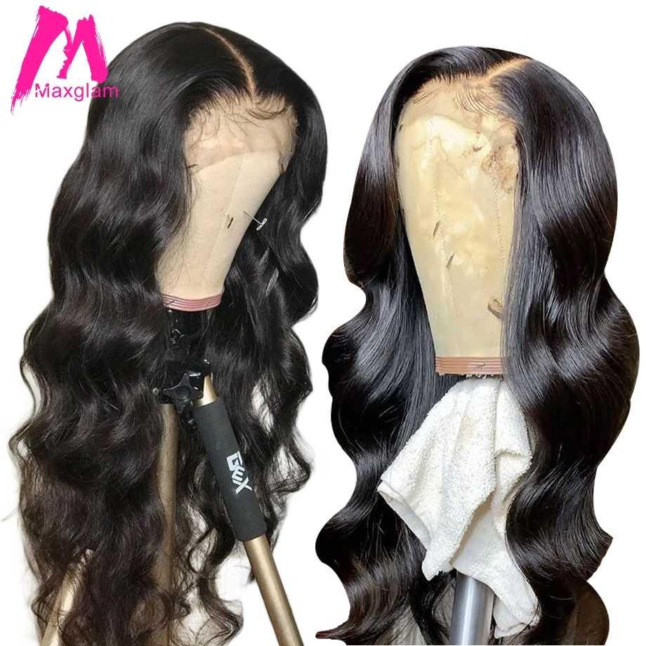 360 koronki przodu peruka wstępnie oskubane z dzieckiem włosy brazylijski ciało fala 13x6 koronki przodu włosów ludzkich peruk dla czarnych kobiet Remy 130%