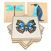 Montessori Science Toys Culture Instructions Animals Plants Insects Wood Mosaic Kindergarten Intelligence Toys for Children Gift
