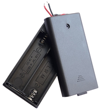 15pcs/lot MasterFire Plastic Battery Storage Case for 2 x 1.5V AA Batteries Box Holder Cover With Wire Leads High Quality