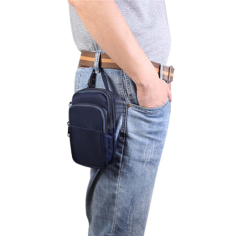 6.3 inch Universal Multi-function Wrist Hanging Waist Portable Diagonal Mobile Phone Bag Waist Case Holster Bag Waist KS0284