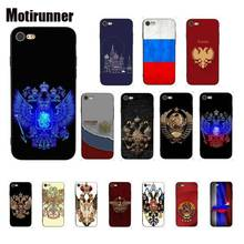 Motirunner Russian Emblem Flag Silicone Phone Case Cover For IPhone 8 7 6 6S 6Plus X XS MAX 5 5S SE XR 10 Cases 11 Pro Max motirunner and white moon creative silicone phone case cover for iphone 8 7 6 6s 6plus x xs max 5 5s se xr 10 11 pro max
