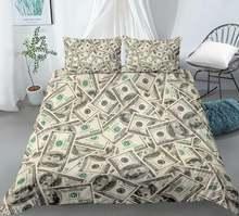 Современный комплект постельного белья 3d с принтом долларов