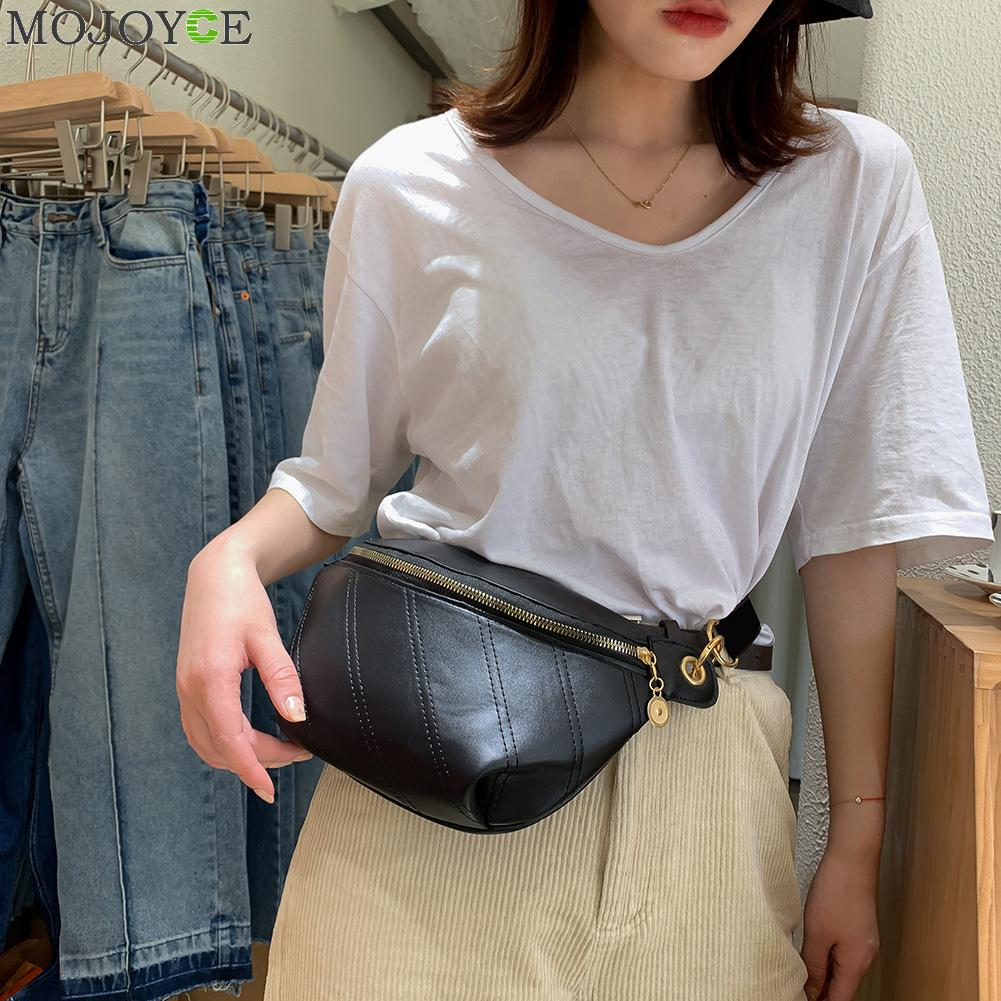 Waterproof Girls Crossbody Bags Casual Zipper Waist Pack For Female Trend Pockets Pouch Chest Bag Women Leather