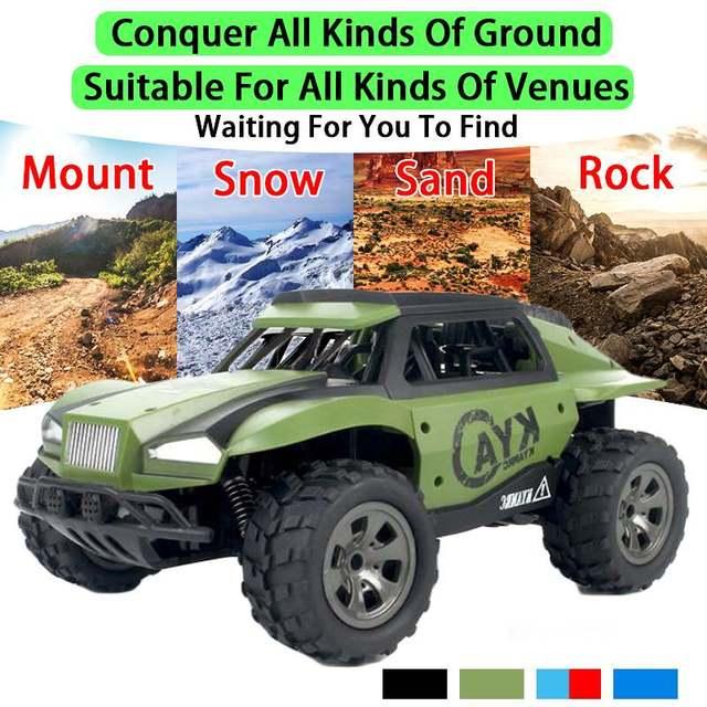 High Speed 60km/h RC Racing Car Trucks 1:18 2WD 2.4G Radio Control RC Car remote control car Off-Road boys Toys for Children 6