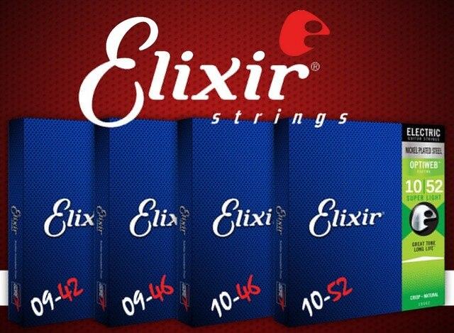 سلاسل Elixir 19052 19102 19077 19027 19002 مطلية بالنيكل الصلب مع أوبتيويب طلاء سلاسل الغيتار الكهربائي