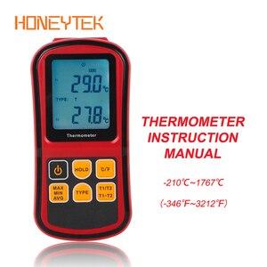Image 1 - GM1312 Dual channel Digital Temperature Meter Professional thermometer Digital Measure High Precision Temperature Meter Tester