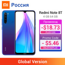 글로벌 버전 Xiaomi Redmi Note 8 T 8 T 4GB 64GB 스마트 폰 NFC Snapdragon 665 Octa Core 48MP 쿼드 카메라 4000mAh Big Battery(China)