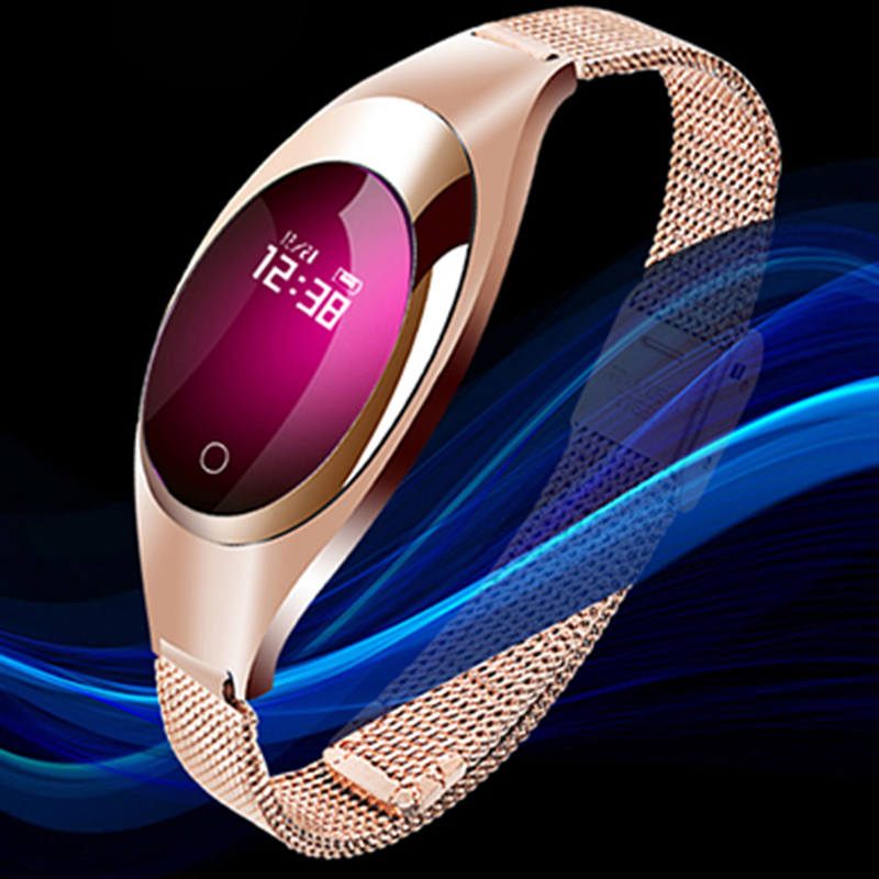Z18 Smart <font><b>watch</b></font> Women Fashion Band bracelet Blood Pressure Heart Rate Monitor Pedometer Fitness Tracker <font><b>Watch</b></font> FOR Android IOS image