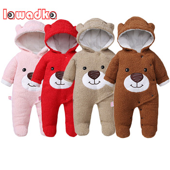 Newborn Baby Clothes From 0 to 3 Months Cartoon Baby Boy Romper Winter Warm Jumpsuit Baby Boy Clothes Infant Crawlers for Kids 2017 newborn baby boy winter long sleeve cotton clothing toddler baby clothes romper warm cartoon jumpsuit for 0 12 months
