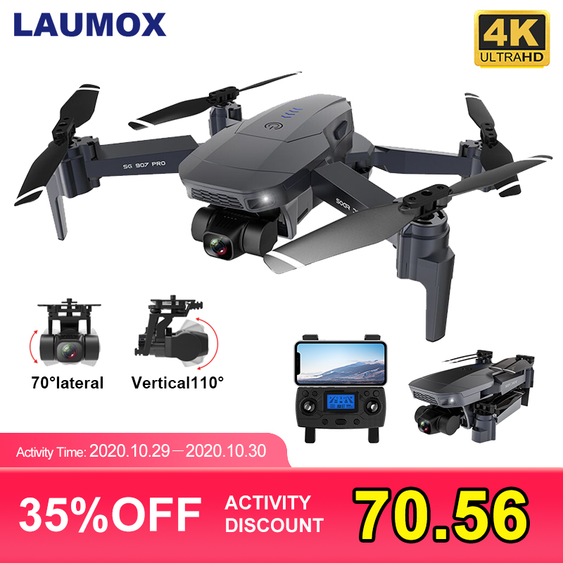 LAUMOX SG907 PRO GPS Drone with 2 Axis Gimbal Camera 4K HD 5G Wifi Wide Angle FPV Optical Flow RC Quadcopter Dron SG906 PRO 2