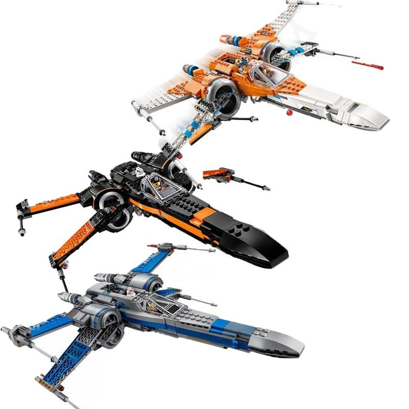 In Stock Star Wars X Wing Y Wing TIE Fighter 75240 75273 Black Ace TIE Interceptor Block Bricks Toys