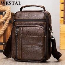 Westalメンズレザーバッグメンズデザイナーバッグ黒のためのクロスボディバッグ男性バッグ男性革バッグ肩の皮小さなハンドバッグ7457