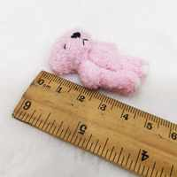 20pcs / lot Mini peluche rosado lindo oso de peluche con corazón de amor juguetes de peluche 1.8