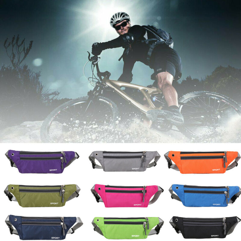 Dual Pocket Running Belt Phone Pouch Waist Bag Sport Travel Fanny Pack Men Portable Travel Outdoor Bag Waist Packs