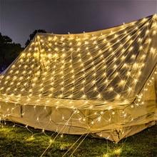 1.5x1.5M 3x2M 6x4M LED Net Mesh Fairy String Light Garland Window Curtain Christmas Fairy Light Wedding Party Holiday Lighting