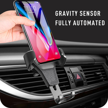 Car Holder For Phone In Car Air Vent Clip Mount Stand For IPhone Huawei Samsung Xiaomi Gravity Bracket Mobil Phone Car Holder image