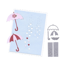 2020 latest model (Love heart and colorful umbrella) DIY scrapbook photo card making decorative mold metal cutting mold cheap MangoCraft Flower Animal Food FRUIT fish Vehicle Human Figure CLOUD Irregular Figure Clothing Cookware Bag Box TREE circle